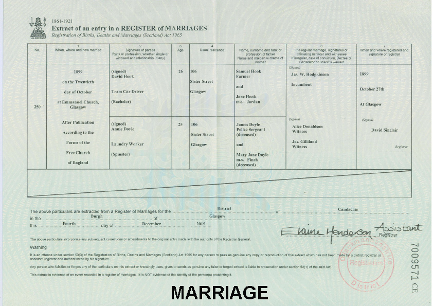 Irish ancestry research irish ancestry research home scottish marriage certificate yelopaper Image collections